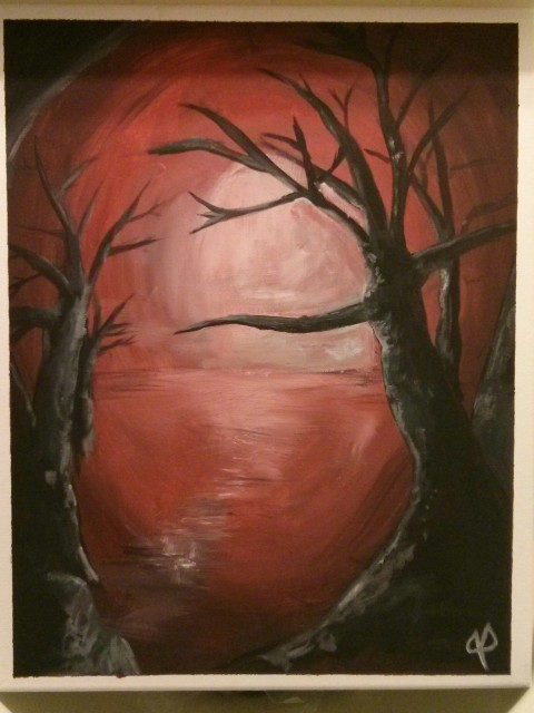 Creepy Trees - Painting 1